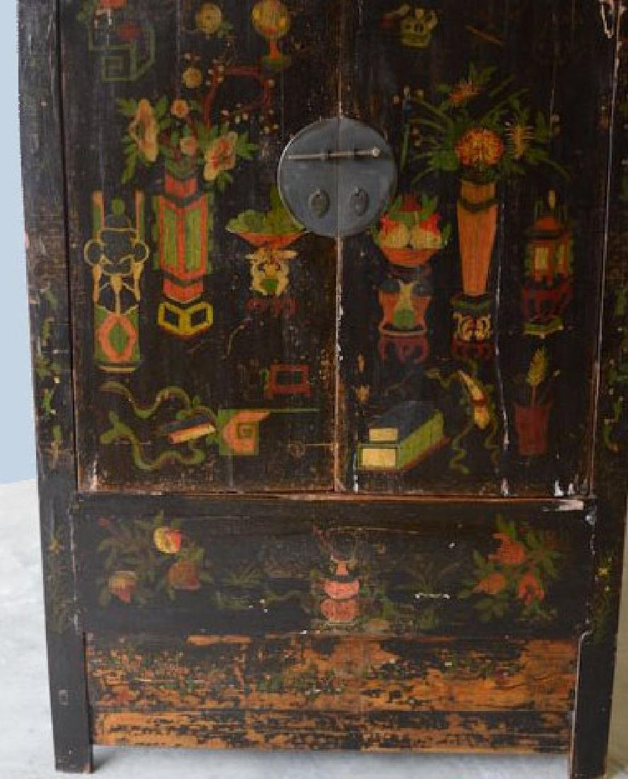 NICE HAND PAINTED ANTIQUE ORIENTAL CABINET