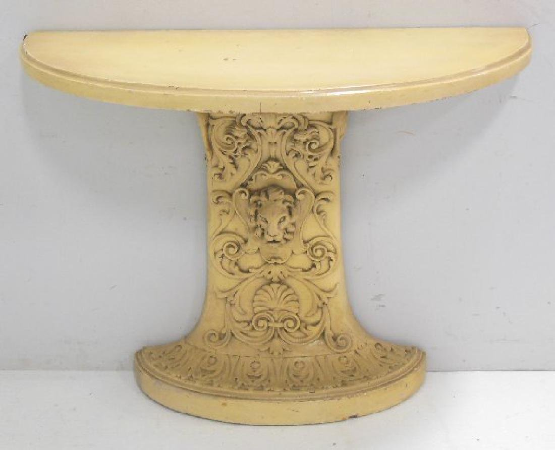 Painted Demilune Console Table