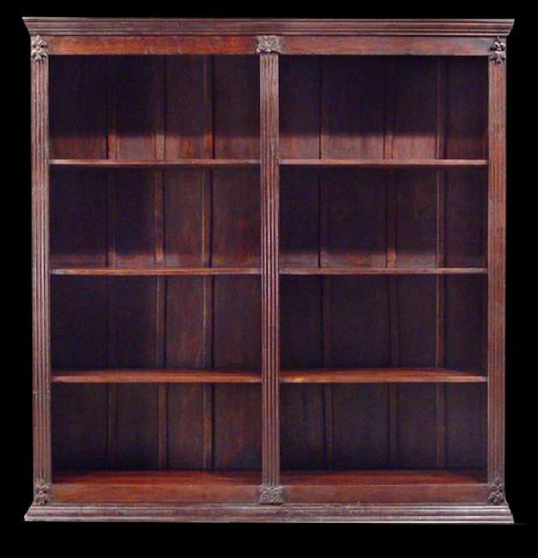 BLACK FOREST WALNUT OFFICE LIBRARY BOOKCASE
