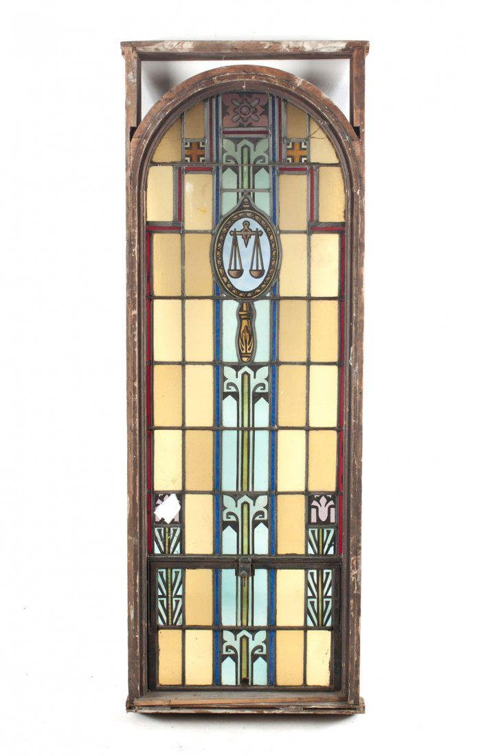 American leaded and stained glass window