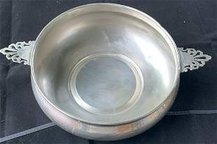 Antique Silver Plated Bowl with Handles