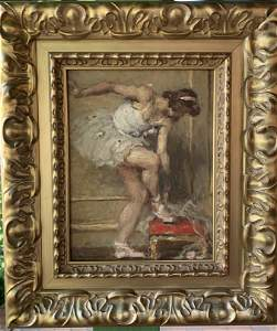 Auguste Leroux, (French 1871-1954) oil on Board Signed