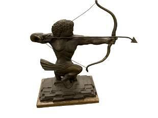 Antique Art Deco Bronze Archer