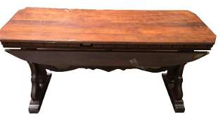 19th Century Antique Mahogany Octagonal Side Table With