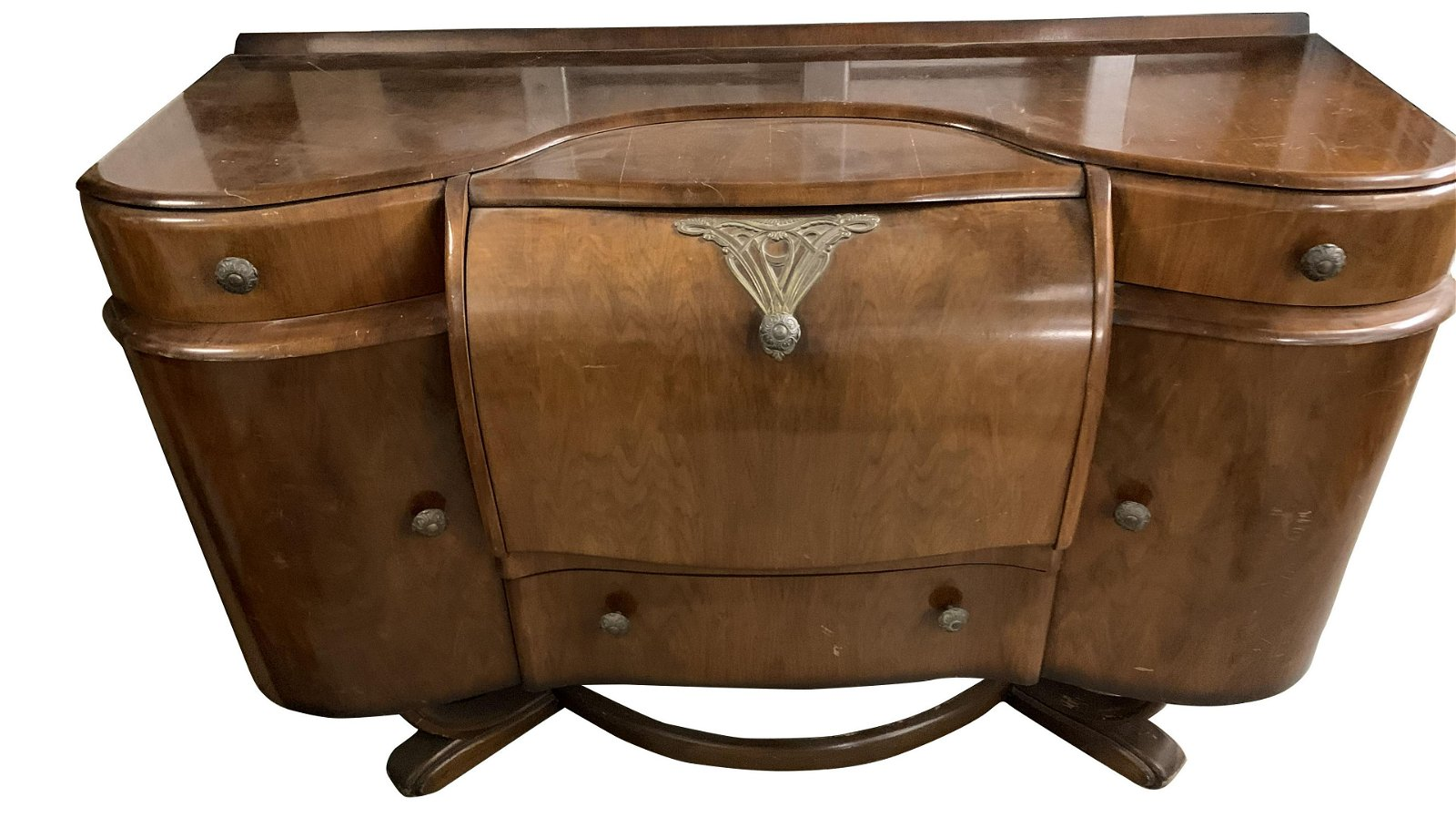 Transition From Art Nouveau to Art Deco Bar/Sideboard
