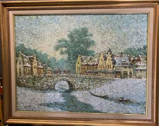 BENNET Oil on Canvas Signed