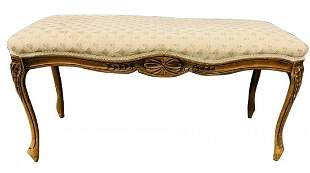 Antique French Style Upholstered Bench