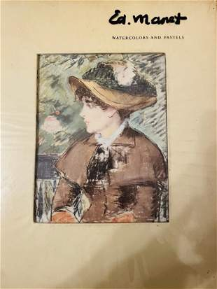 Edouard Manet Water Colors And Pastels