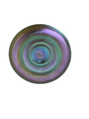 Iridescent Small Plate Signed LCT Tiffany