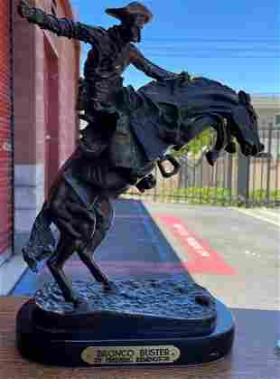 Remington Bronze Statue