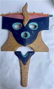 Native American Mask Illegible Signature
