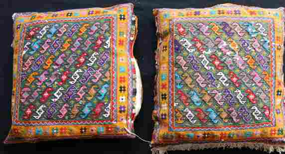 Vintage Persian Hand Made Rug Pillow