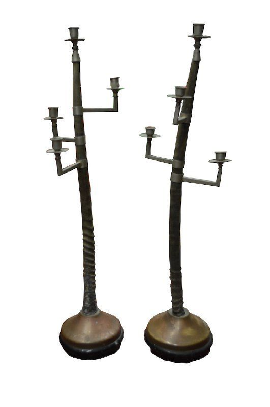 Pair of Oryx Candelabras Attributed to Anthony Redmile