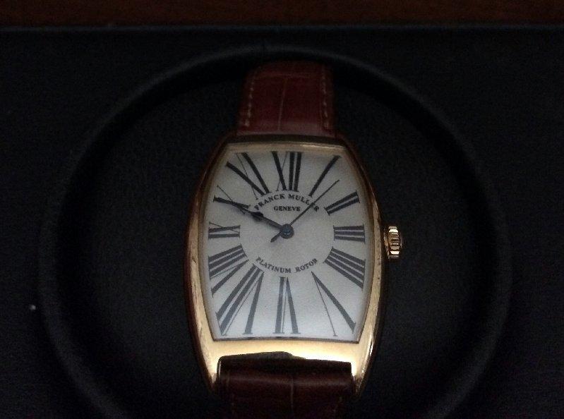 Frank Muller 18K Cintree Curved Men's Watch