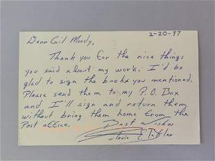 Authentic Octavia Butler (writer) handwritten Postcard