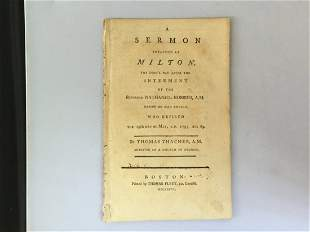 1796 Religious Pamphlet