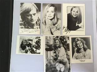 Lot of 30 Hand signed Photos by Celebrities -Voight,