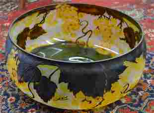 Very Large Art Deco Style Galle Center Bowl