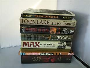 Lot of 8 Books 1st/1st Including Ken Follett Signed