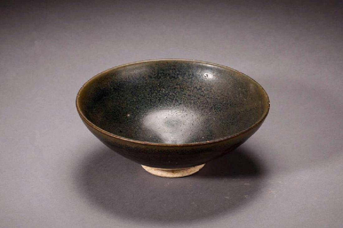 A SHANXI OIL SPOT BLACK-GLAZED BOWL JIN