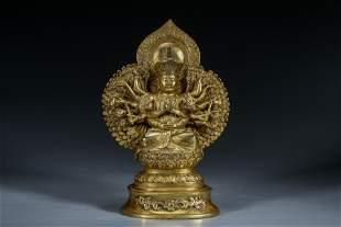 A gilt-bronze Buddha Of Qing Dynasty