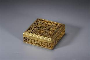 A silver gilt-bronze smoked furnace of Tang dynasty