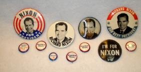 Eleven Richard Nixon Presidential pinbacks