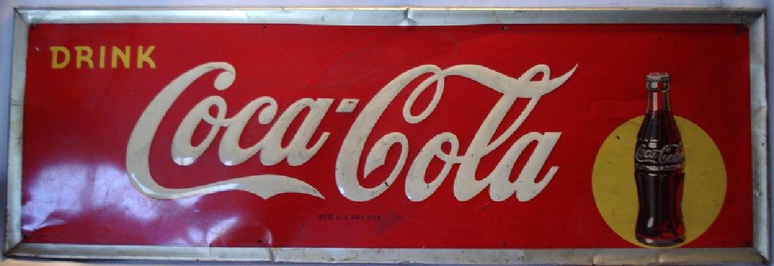 Coca-Cola sign, bottle in yellow dot
