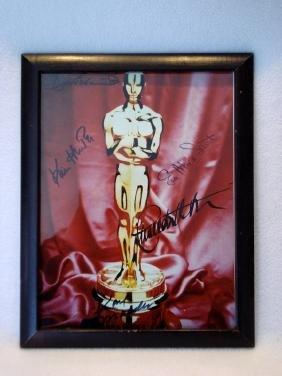 An autographed Oscar photo