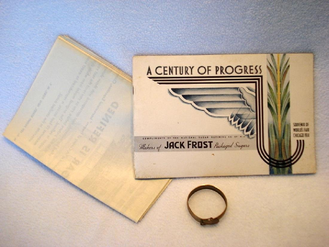 Two 1933/34 Chicago Worlds Fair items including