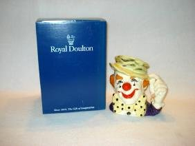 "Large Royal Doulton Toby Character Jug ""The Clown"""