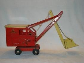 Buddy L pressed steel steam shovel toy