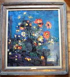 Alex Moser-Padina oil on canvas entitled Fleurs de