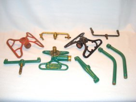 Lot Of Vintage Incomplete Lawn Sprinklers And Assorted