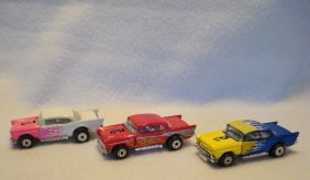 Three 1979 Matchbox Superfast # 4 '57 Chevy's, One From