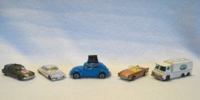 Five Husky Model Cars Made In Great Britain Including: