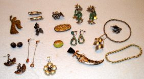 Mixed Lot Of Silver Jewelry