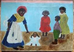 Folk art Oil on Canvas.