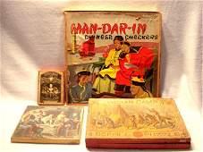 Four vintage board games