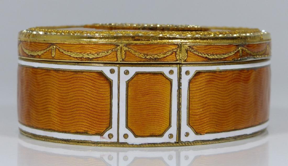 FRENCH GUILLOCHE ENAMEL & ORMOLU PORTRAIT BOX - 2