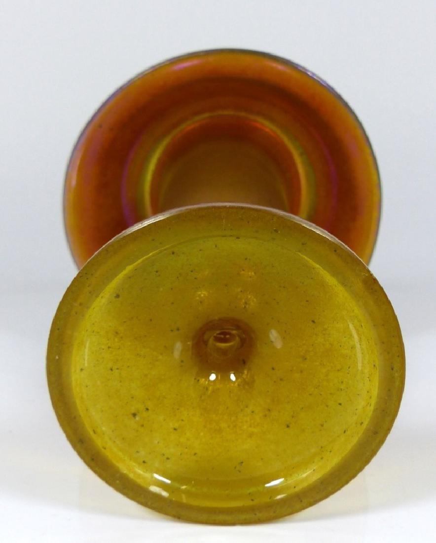 LOETZ ART GLASS IRIDESCENT MUSHROOM VASE - 4
