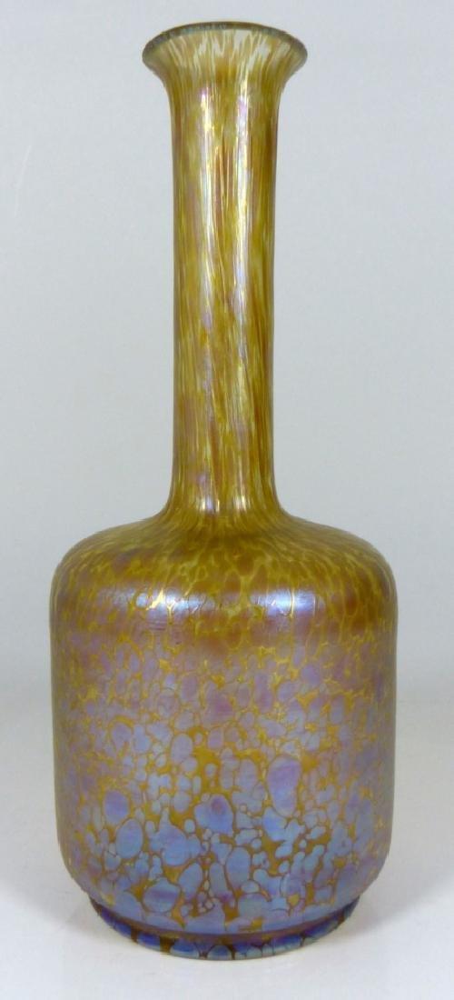 LOETZ PAPILLION ART GLASS VASE OIL SPOT - 2
