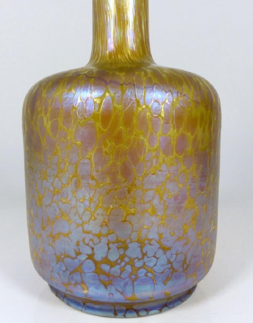 LOETZ PAPILLION ART GLASS VASE OIL SPOT - 3