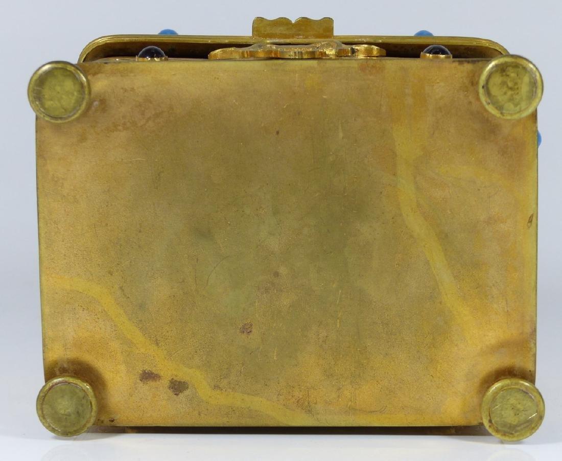 CONTINENTAL ORMOLU JEWELED BOX w PORCELAIN PLAQUE - 9