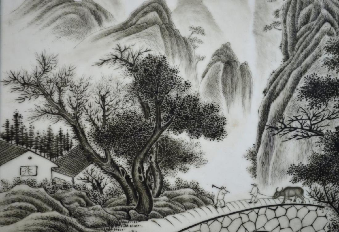 CHINESE REPUBLIC PERIOD PORCELAIN PLAQUE - 6