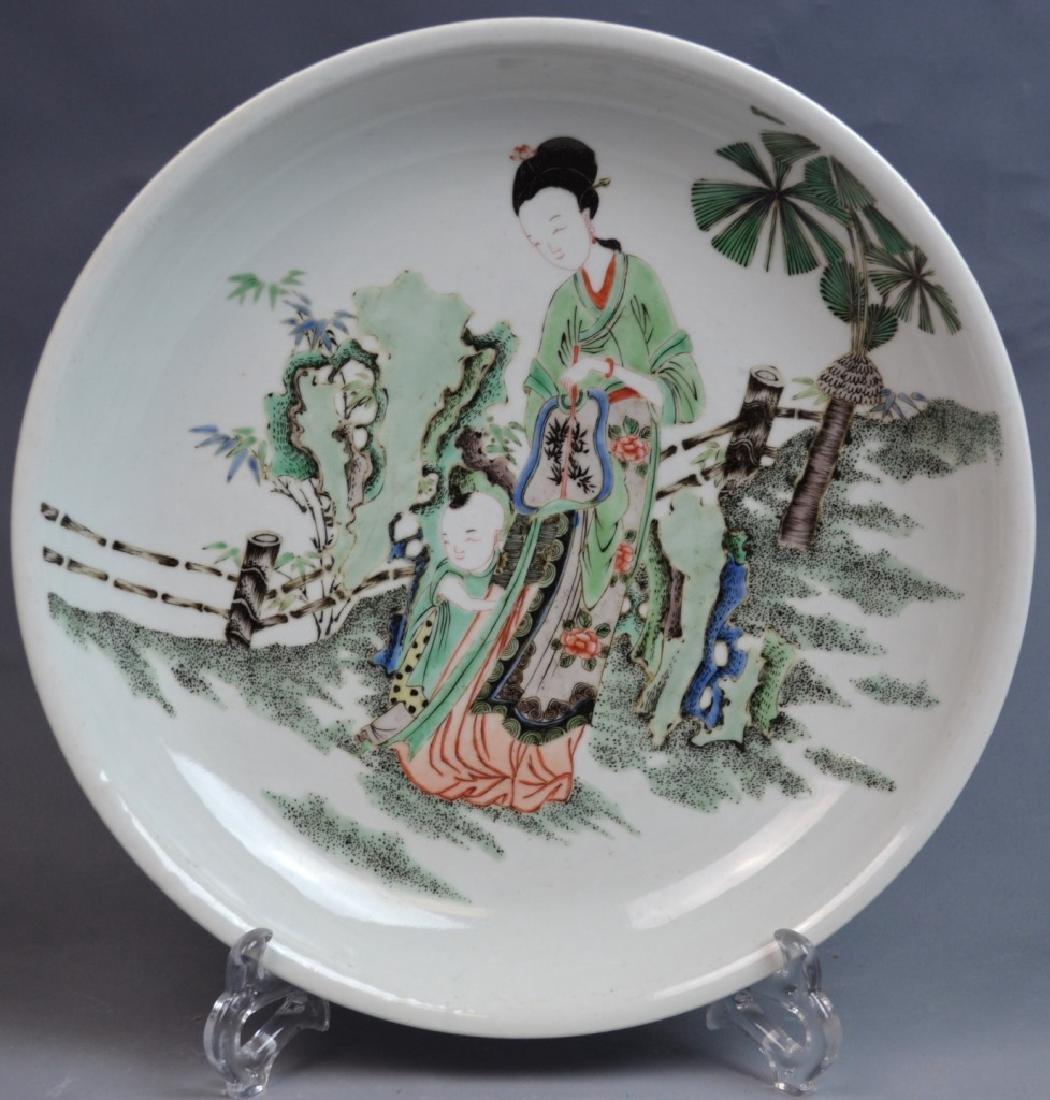 CHINESE KANGXI FAMILLE VERTE PORCELAIN PLATE