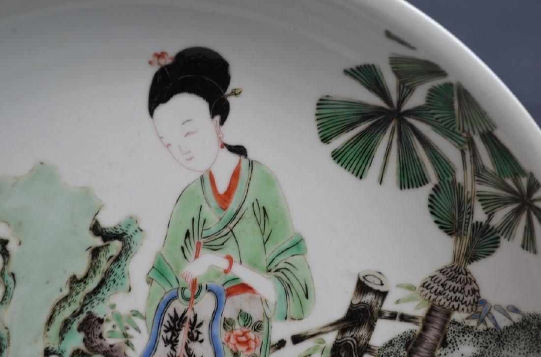CHINESE KANGXI FAMILLE VERTE PORCELAIN PLATE - 2