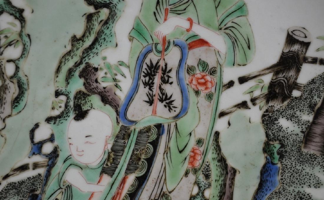 CHINESE KANGXI FAMILLE VERTE PORCELAIN PLATE - 3