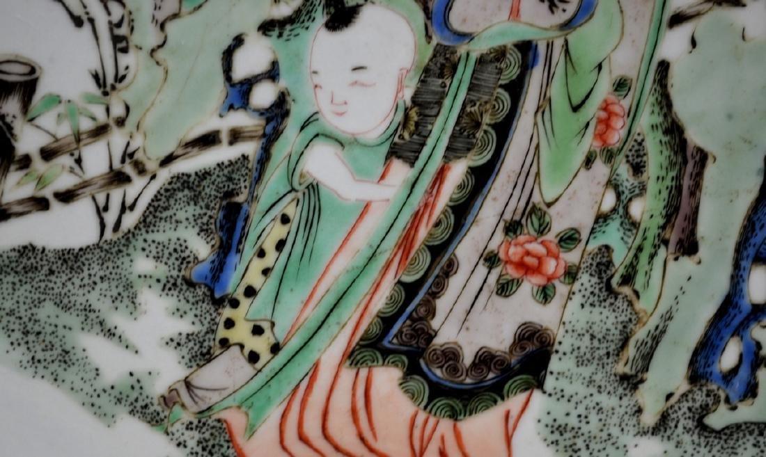 CHINESE KANGXI FAMILLE VERTE PORCELAIN PLATE - 4