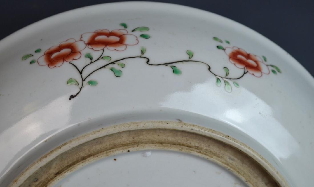 CHINESE KANGXI FAMILLE VERTE PORCELAIN PLATE - 6